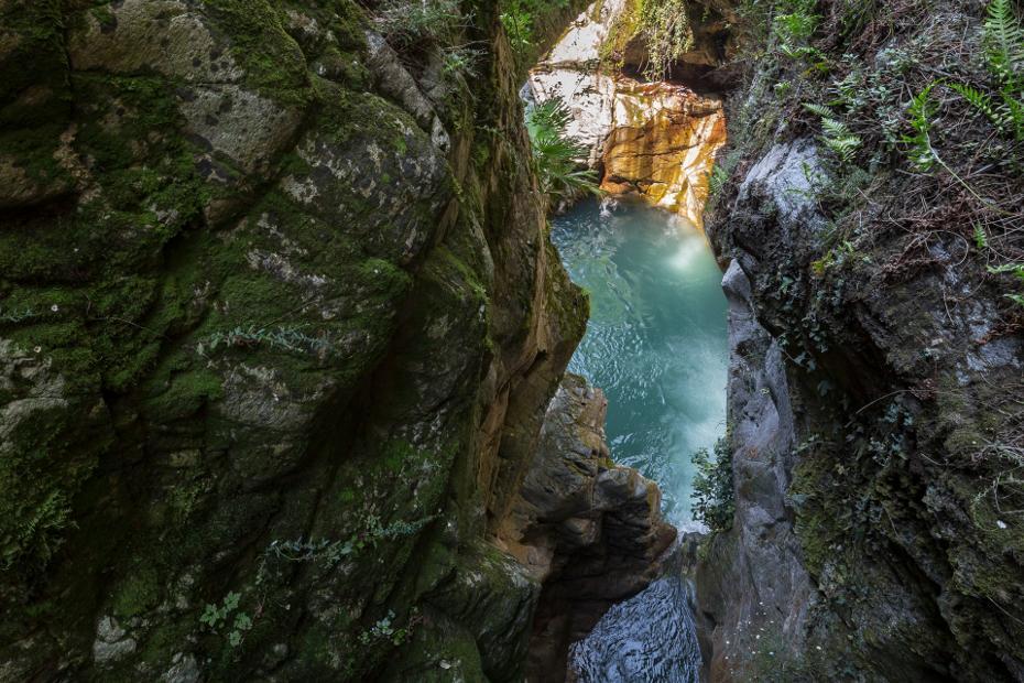 9. Abstieg zum Orrido-Wasserfall