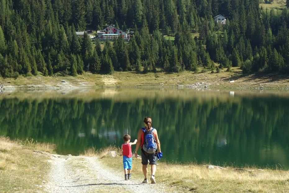 Chiesa Alpe Palu in funivia e Lago Palu, rifugio Lago Palù  oppure Rifugio Motta