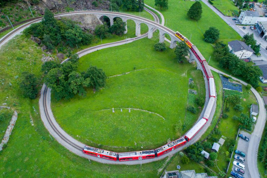 Tirano e il Trenino Rosso del Bernina