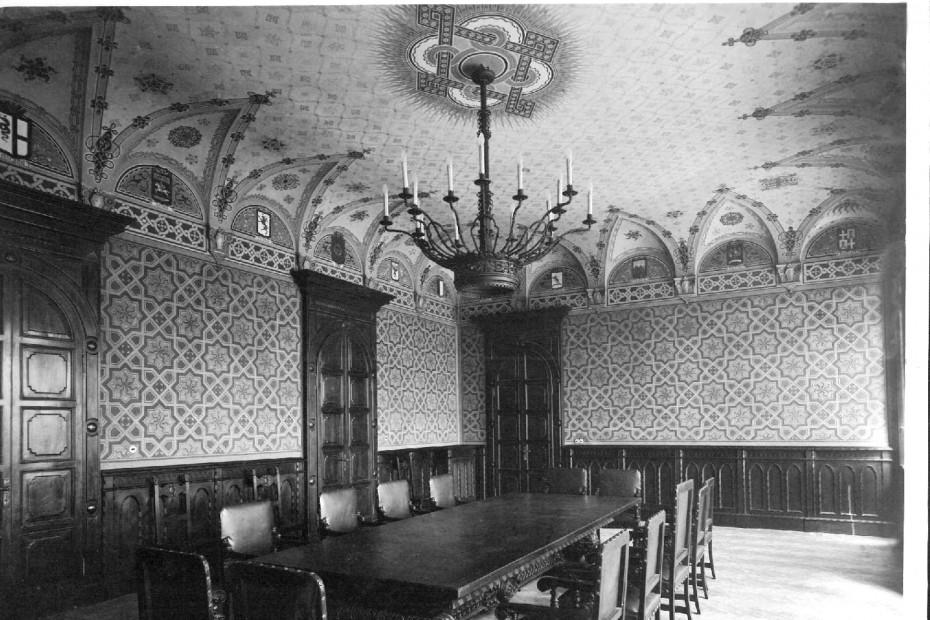 Foto originale dell'Aula Consiliare alla sua costruzione