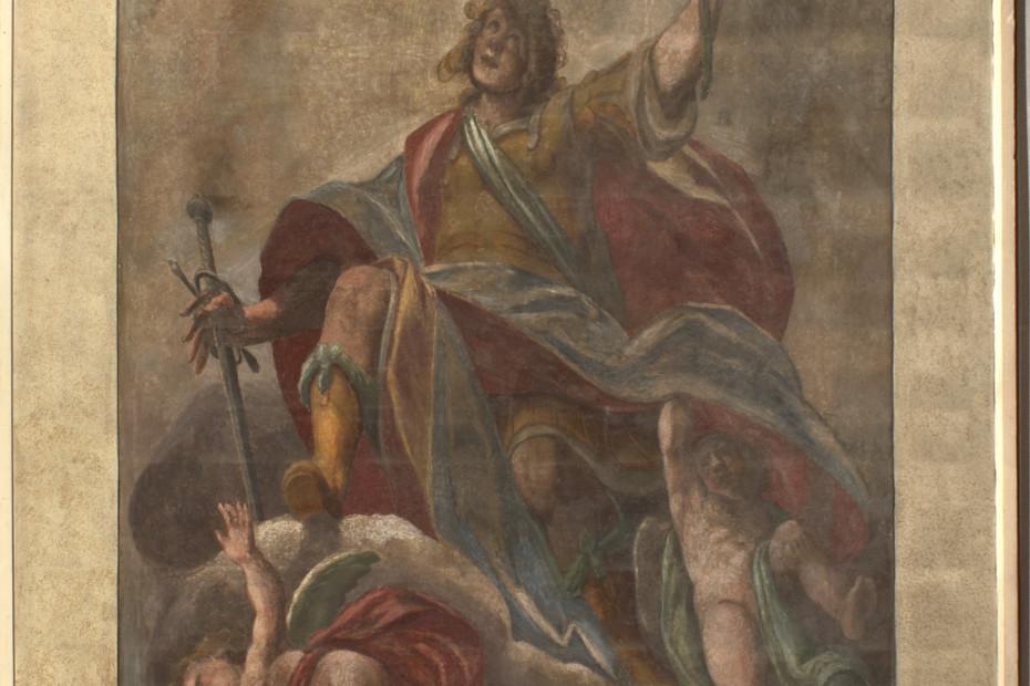 S.Gervaso ritratto dal Fiamminghino si può ammirare sullo scalone d'onore