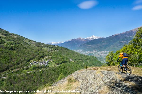 Dos Sugarel - panorami sulla Val d'Arigna e la Valtellina