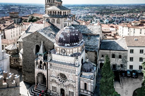 Panorama sulla Basilica di Santa Maria Maggiore a Bergamo