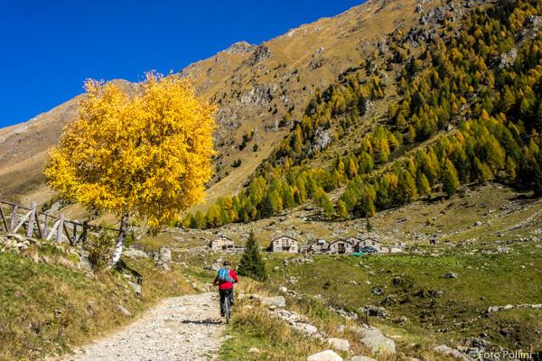 Arrivo all'Alpe Caldenno