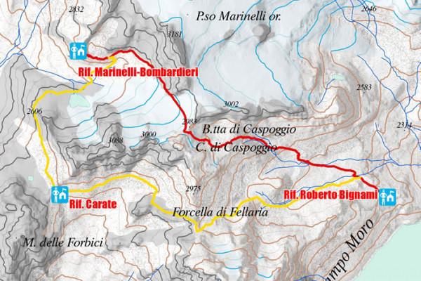 Cartina sesta tappa Alta via della Valmalenco
