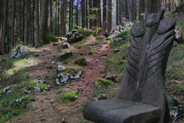 particolare scultura in legno