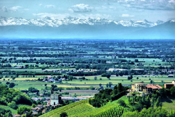 Panorama dal Castello di Mornico