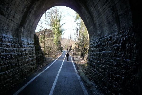 Tunnel sulla vecchia ferrovia Menaggio - Porlezza